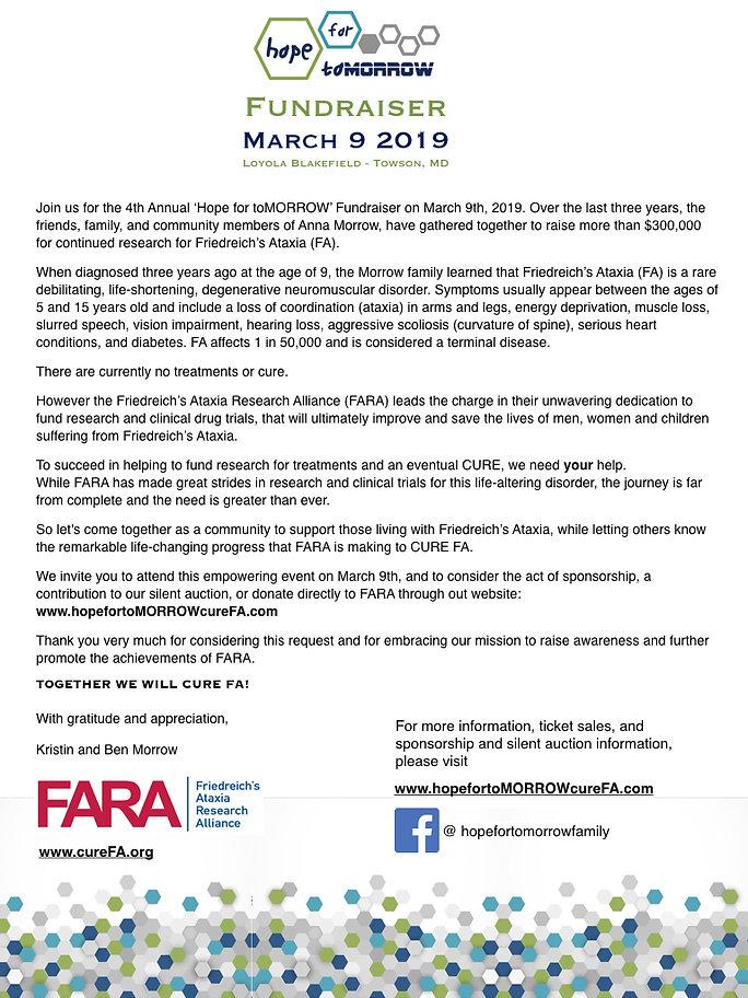 2019 Sponsor _ Auction Request Letter an