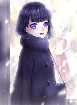 「寒いね、どこか入ろっか」