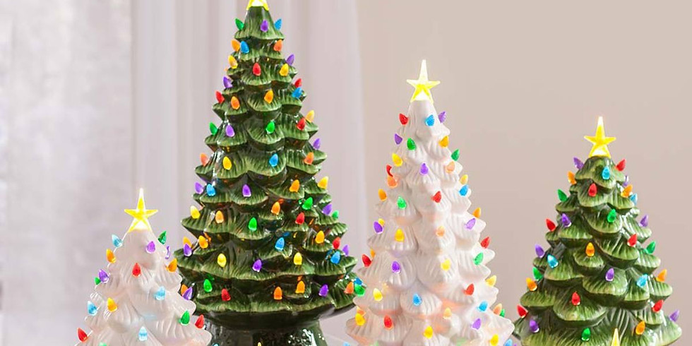 Glaze a Christmas Tree Lantern Adults twilight session