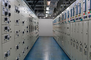 Electrical switch gear room located in h