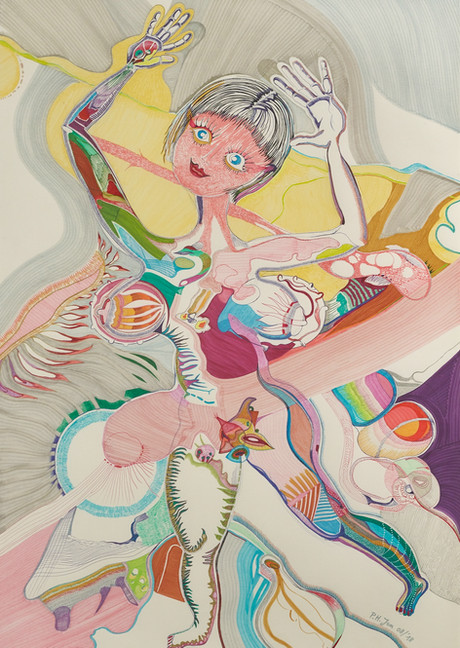La danseuse • Aquarel, kleurinkt en balpen op papier