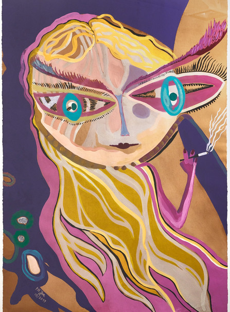 Vie insouciante • Acryl, zwarte inkt en aquarel op papier