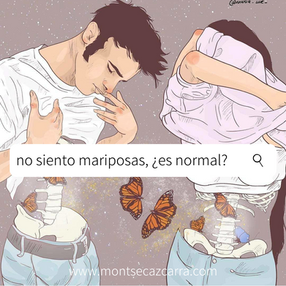 No siento mariposas, ¿es normal?