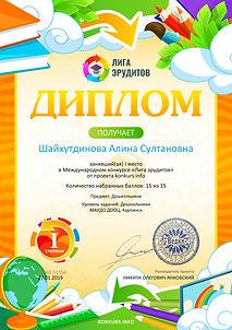 Диплом 1 степени проекта konkurs.info ¦5