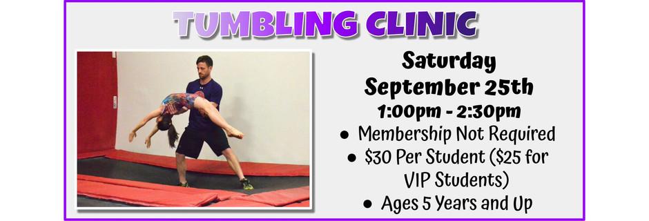 Tumbling Clinic 9/25