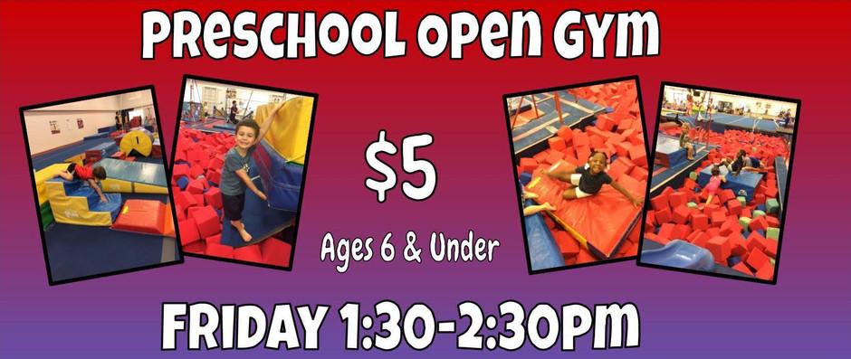 Preschool Open Gym is Back!