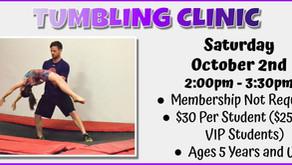 Tumbling Clinic 10/2