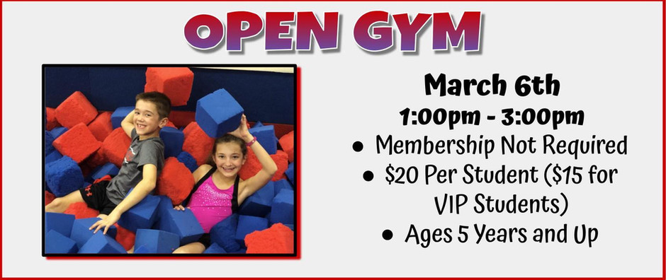 Open Gym 3/6