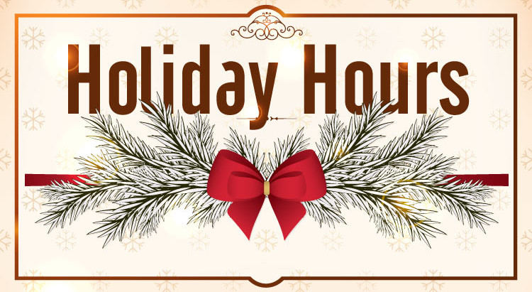 Holiday Hours and Camps