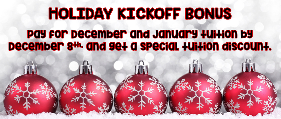Holiday Kickoff Bonus