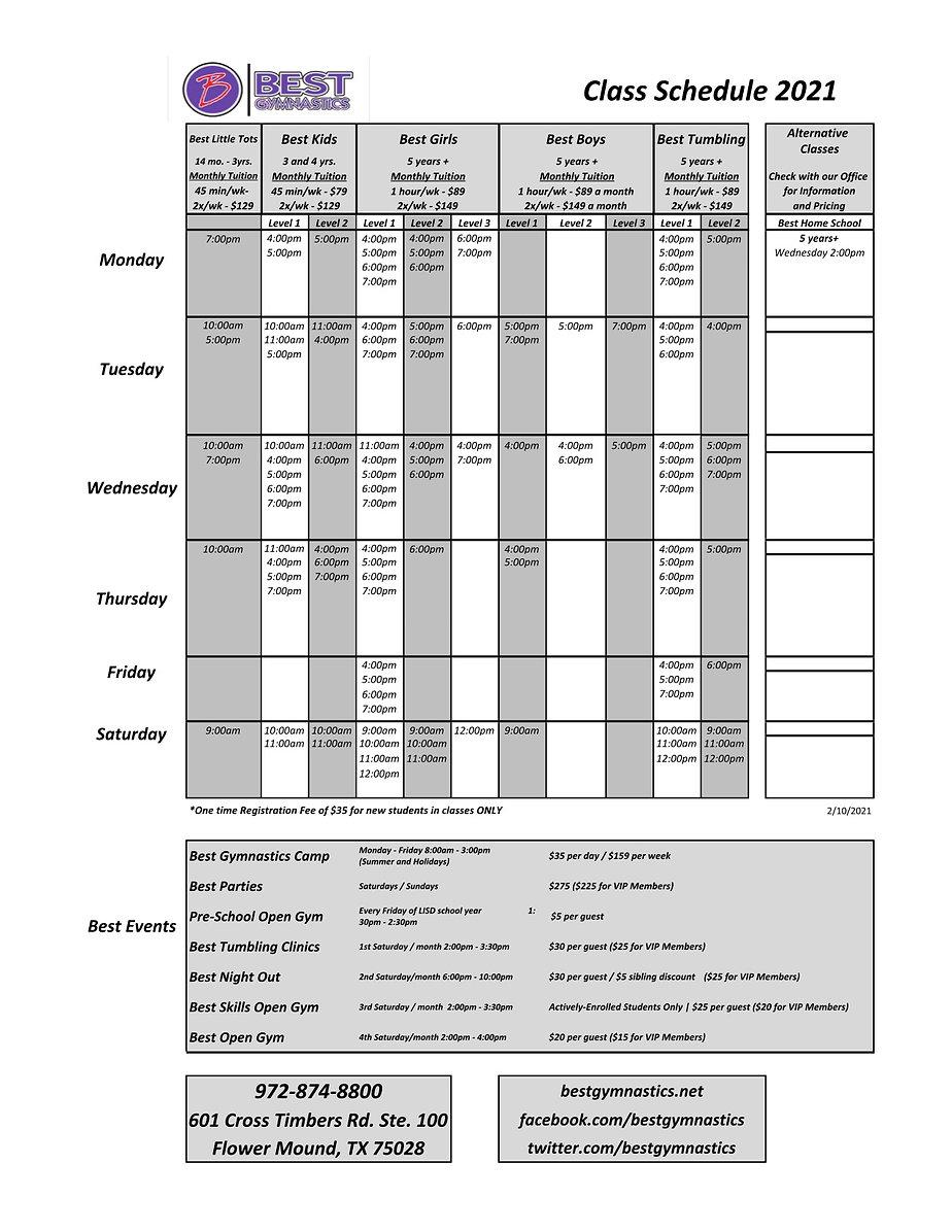 Best Class Schedule-Master  - Best Sched