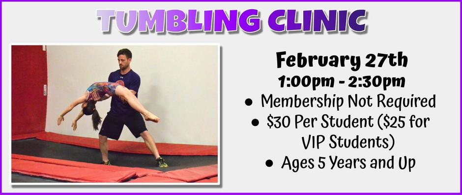 Tumbling Clinic 2/27