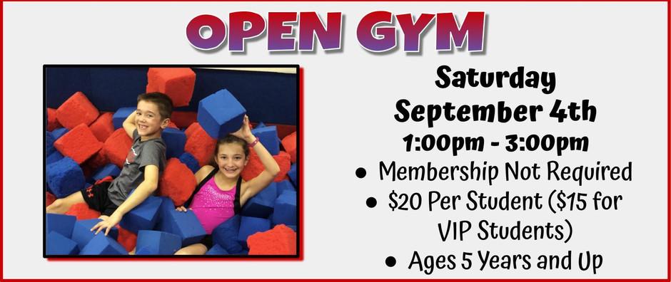 Open Gym 9/4