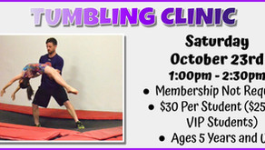 Tumbling Clinic 10/23