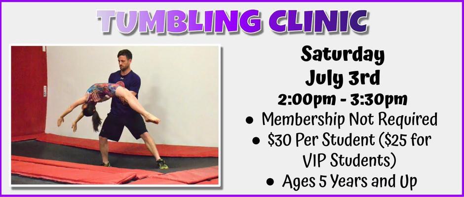 Tumbling Clinic 7/3