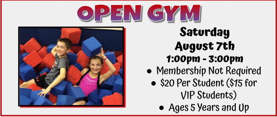 Open Gym 8/7