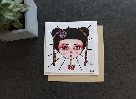 """LOUGA GEISHA""Peinture et feutre by YAI"