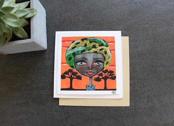 """""""LOUGA BOUBOU""""Peinture et feutre by YAI"""