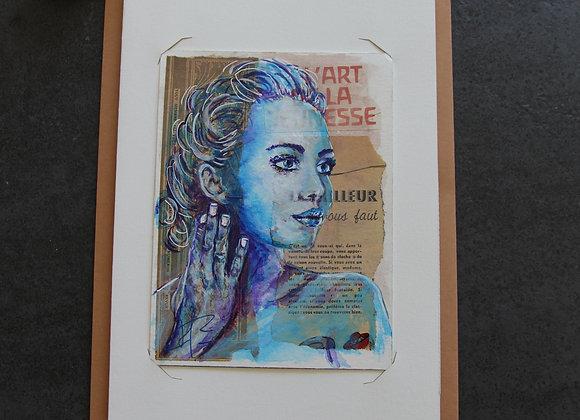 """""""EVA"""" Peinture acrylique sur collage by AIMERE"""