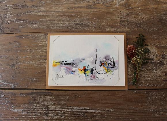 """""""COMPO 138-1"""" Encre de chine et encre aquarelle by BERNARD NEULAT"""