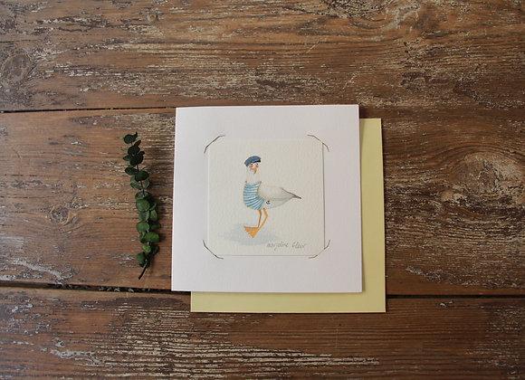 """MARIUS"" Aquarelle by MARJOLINE FLEUR"