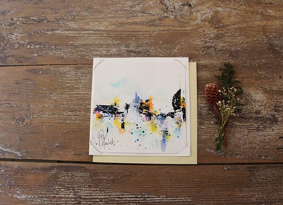 """""""COMPO 155-1"""" Encre de chine et encre aquarelle by BERNARD NEULAT"""