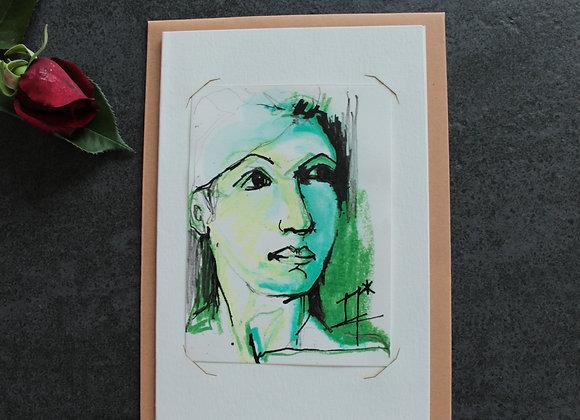 """""""OEUVRE 7"""" Encre et pastel by MARIE COLIGNON"""