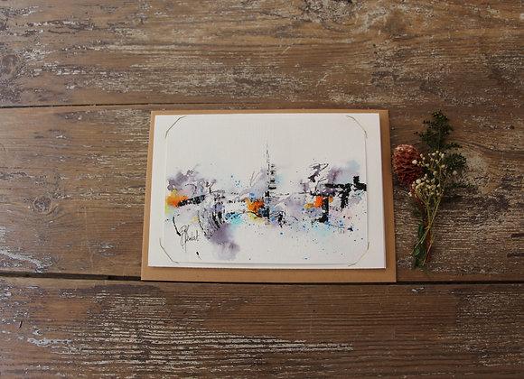 """""""COMPO 138-3"""" Encre de chine et encre aquarelle by BERNARD NEULAT"""