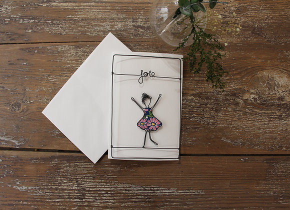 """JOIE"" Carte en fil de fer by AGAPI"