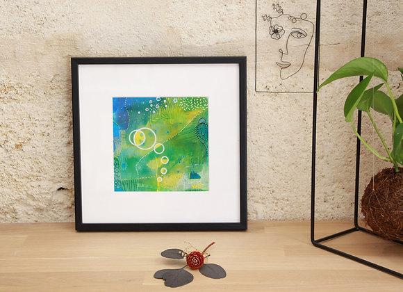 """""""LE PETIT PONT VERS LES MIMOSAS"""" Peinture by NADI"""