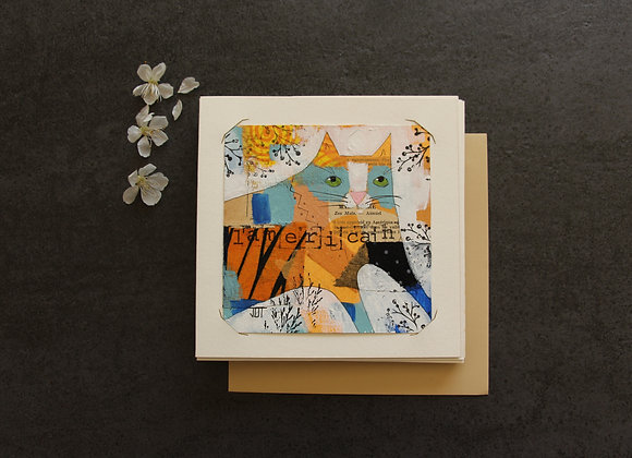 """""""L'AMERICAIN"""" Peinture et collage by JULIE DE TERSSAC"""