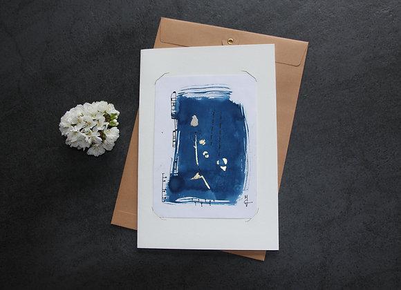 """OEUVRE 22"" Cyanotype by M.C.VALENTINE"