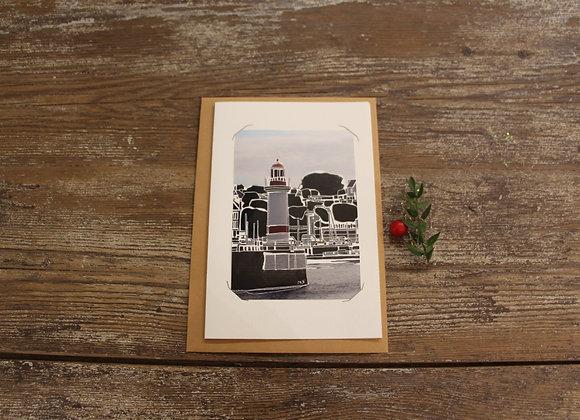 """""""LE PHARE"""" Gravure sur photographie by MATHIEU SEGURA"""