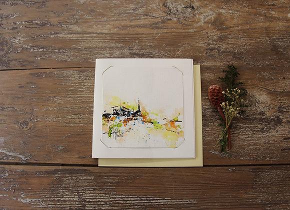 """""""COMPO 133-5"""" Encre de chine et encre aquarelle by BERNARD NEULAT"""