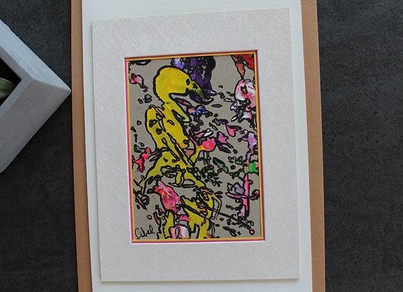 """""""L'OISEAU"""" Peinture acrylique by SIBEL"""
