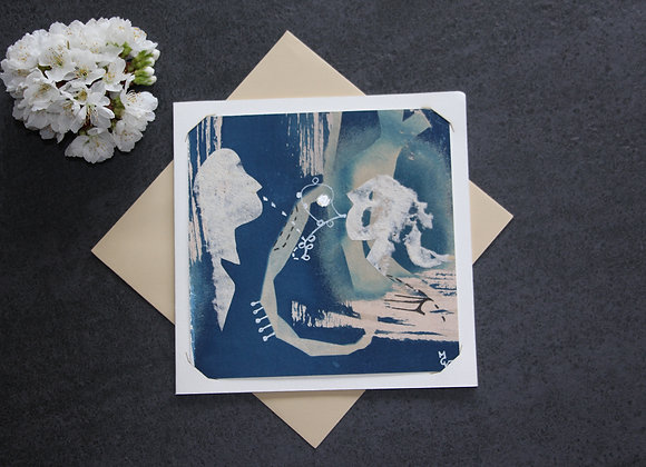 """OEUVRE 74"" Cyanotype et dessin by MCV"