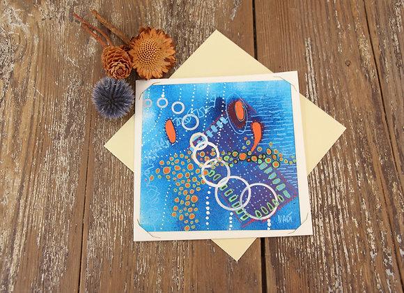 """BLUE LAGON"" Peinture by NADI"