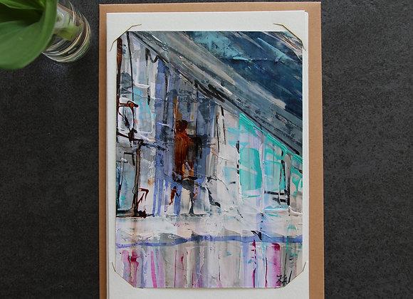 """""""BORDEAUX BLUE 8"""" Oeuvre by ART KELLY ALLISON"""