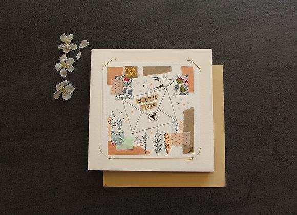 """""""WITH LOVE""""Encre et collage by JULIE DE TERSSAC"""