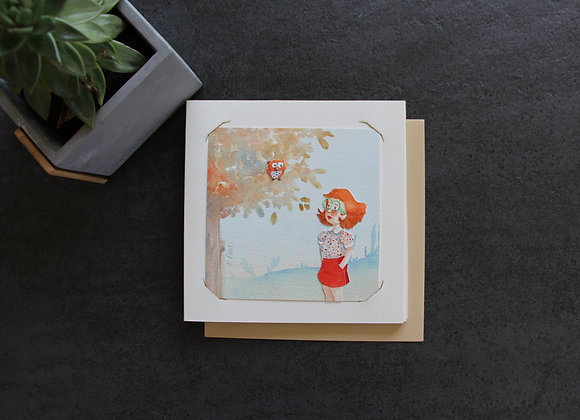 """OEUVRE 2"" Aquarelle by MARJOLINE FLEUR"