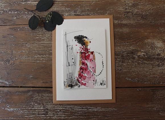 """MADEMOISELLE PINK I"" Dessin by AURÉ Li"