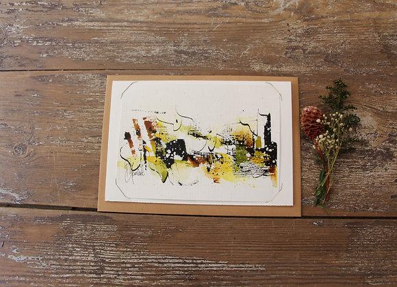 """""""COMPO 138-2"""" Encre de chine et encre aquarelle by BERNARD NEULAT"""