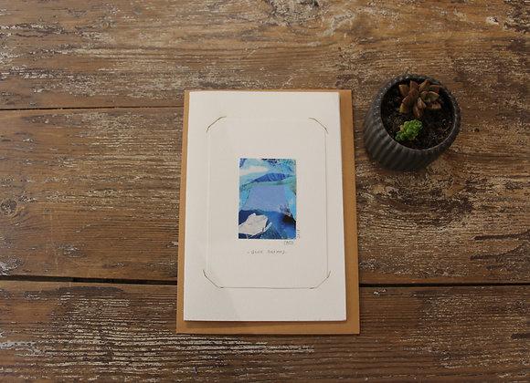 """BLUE DREAMS"" Mixed media by ELISABETH CARLI"