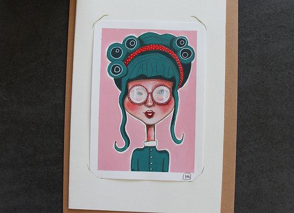 """""""ALICE""""Peinture, collage et feutre by YAI"""