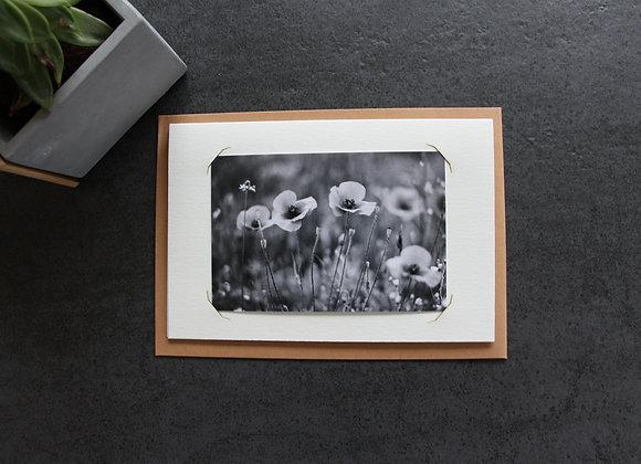 """POPPIES 1"" Photo noir et blanc by SANDRA HYGONNENC"