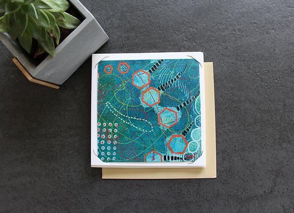 """FAUNE SOUS-MARINE"" Peinture acrylique by NADI"