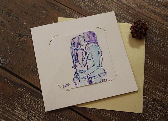 """""""S'EMBRASSER"""" Encre et crayon sur papier by ELIZE"""