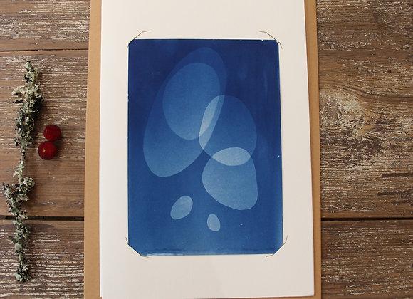 """GALETS II"" Cyanotype by LES PAPIERS BLEUS"
