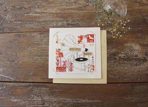 """""""3 PETITES NOTES"""" Encre et collage by JULIE DE TERSSAC"""