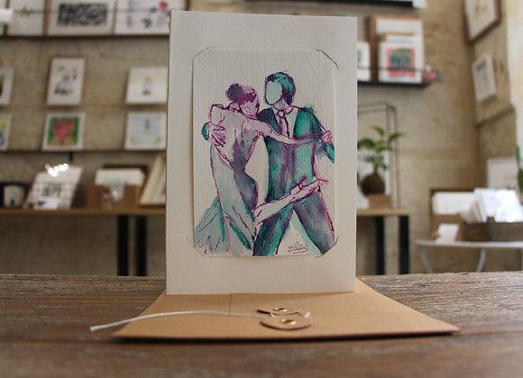 """""""TANGO 2"""" Dessin encre et crayon by ELIZE"""